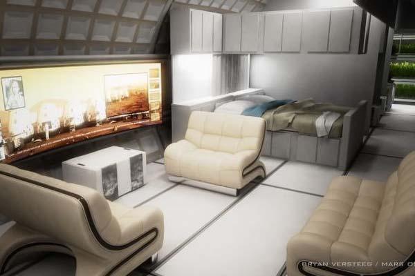 Mars One / tervezett lakómodulok