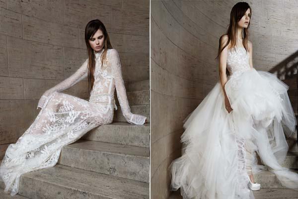 Extravagáns csipkék az esküvői ruhákon