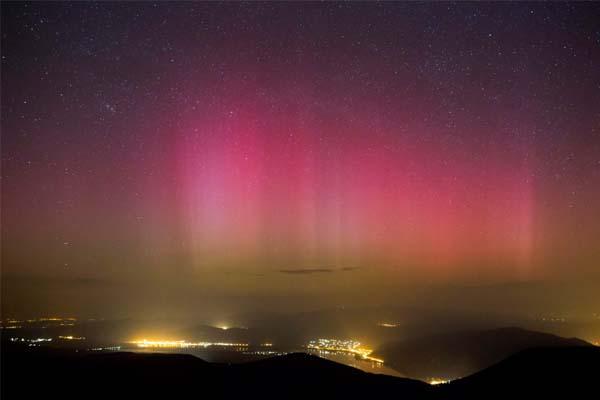 Sarki fény Dobogókőnél - Fotó: MTI, Mohai Balázs