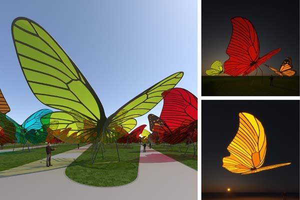 Energiatermelő pillangók egy land art energiaparkban