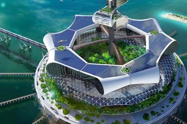 Óceántisztító ökosziget Cancun