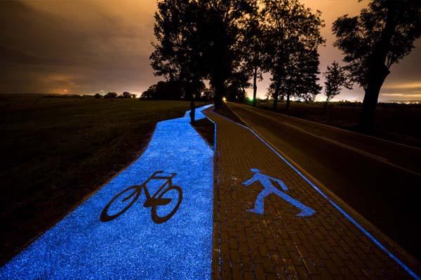 világító kerékpárút