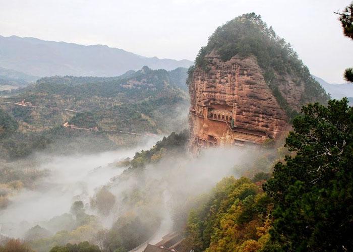Maijishan Grottoes buddhista templom