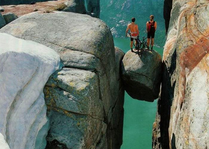 Kjerag szikla Norvégia