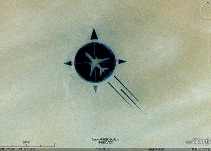 Szahara repülő baleset emlékmű