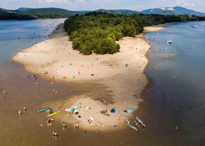 Kisoroszi szabadstrand - Duna-parti szabadstrandok Dunakanyar