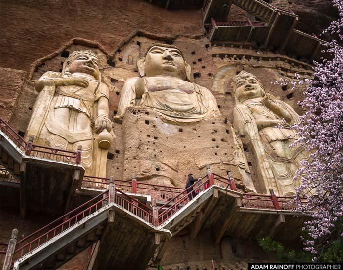 Maijishan Grottoes buddhista szentély Kínában