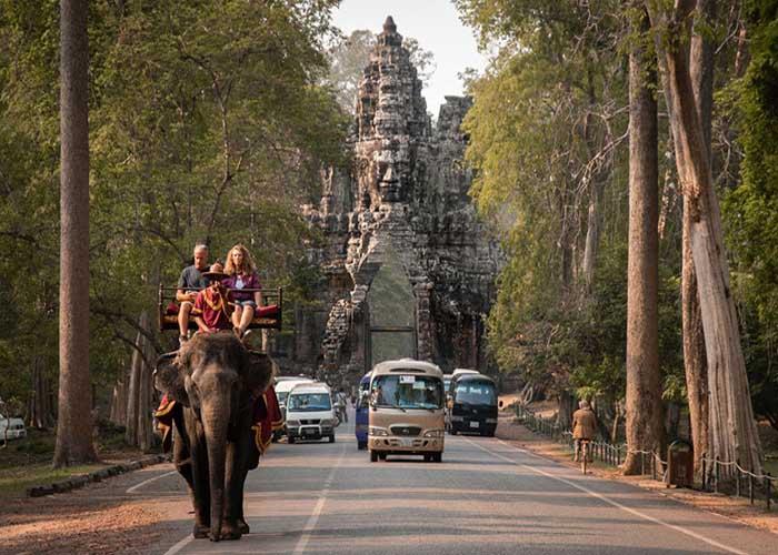 elefánt turizmus Angkorvat