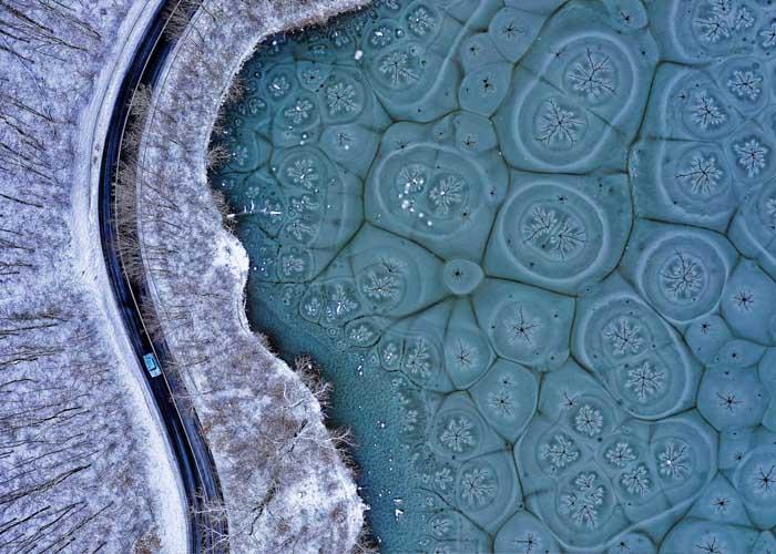 Kovács Norbert - Fraktálmintás tó drónfotó pályázat
