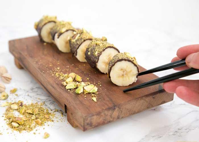 Csokoládés banán sushi