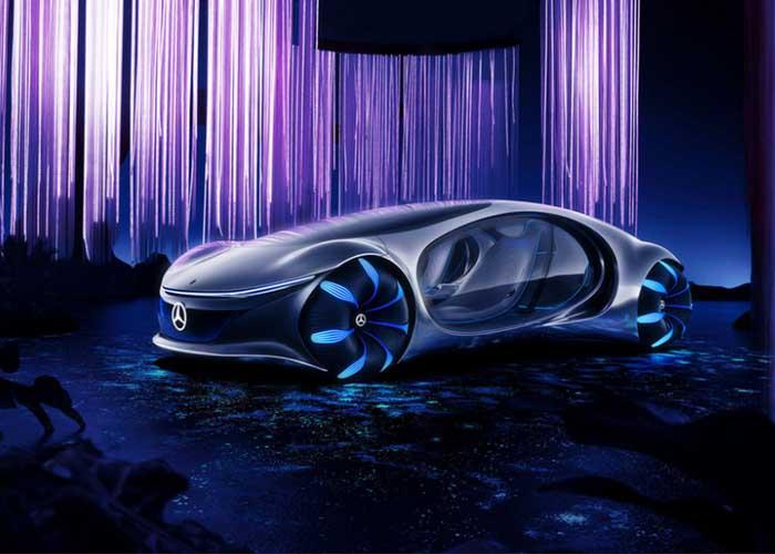 A Mercedes bemutatta az új Avatár autót a CES kiállításon – futurisztikus öko autó