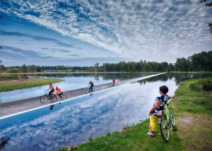 víz alatti kerékpárút