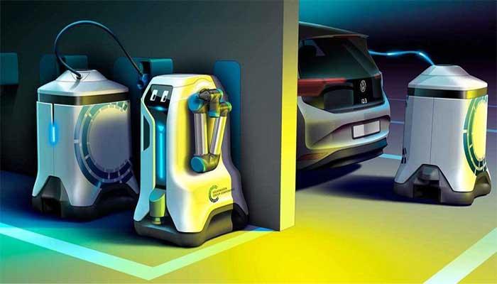 Jönnek a mini töltőrobotok – forradalmasíthatják az elektromos autók töltését
