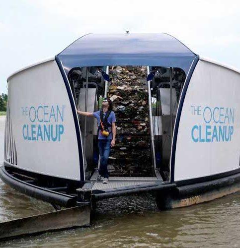 ocean cleanup napelemes hajók